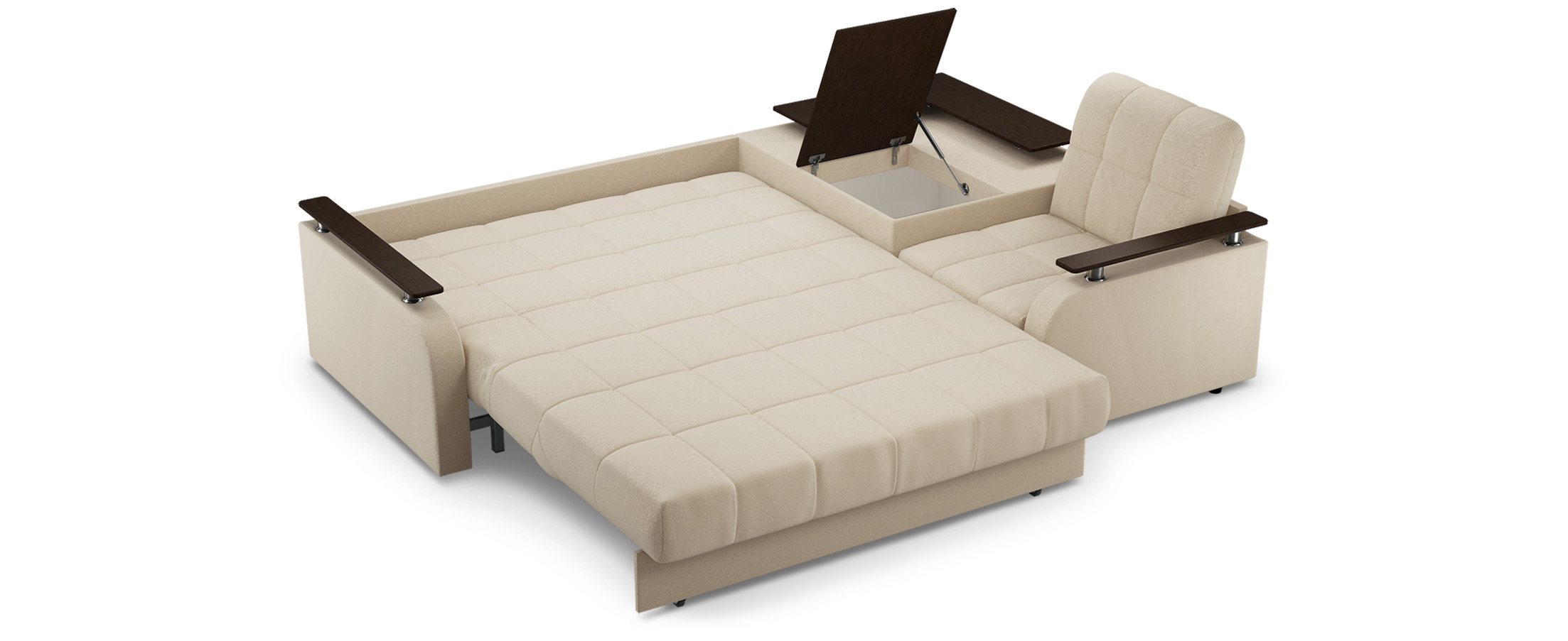 Большой диван аккордеон с большим спальным местом